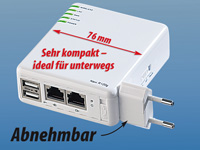 7links 6in1 Multi-WLAN-Router File-,Print-& IP-Server 54Mbit