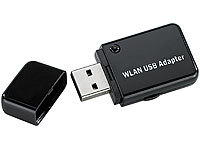 "7links Mini-USB-WLAN-Stick ""WS-300XS"", 300 Mbit n-Draft, WPS-Button; Powerline-Adapter"